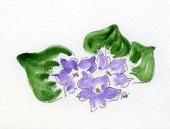 Violets Notecards (set of 8)