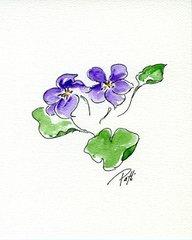 Wood Violets Notecards (set of 8)