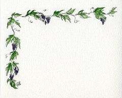 Grapevine Notecards (set of 8)