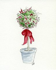 Topiary Notecards (set of 8)