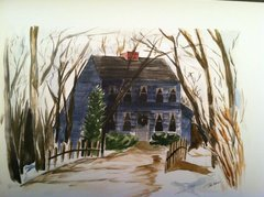 House Giclee Reproduction of original watercolor by Patti Maher