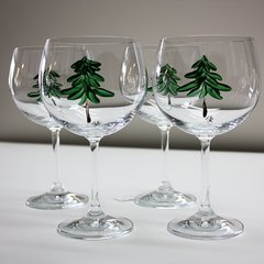 Evergreen red wine glasses - set of 4