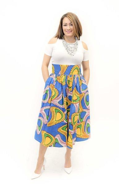 Sunburst Midi Skirt