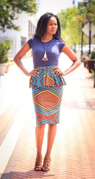 Diamond in the Rough Peplum Skirt