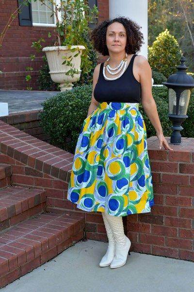 Lemon Lime Midi Skirt