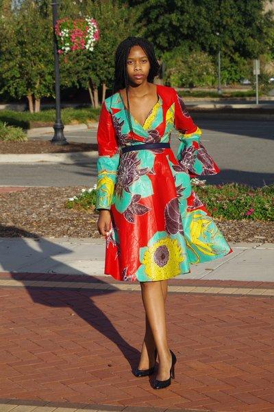 Floral Kimono Wrap Dress