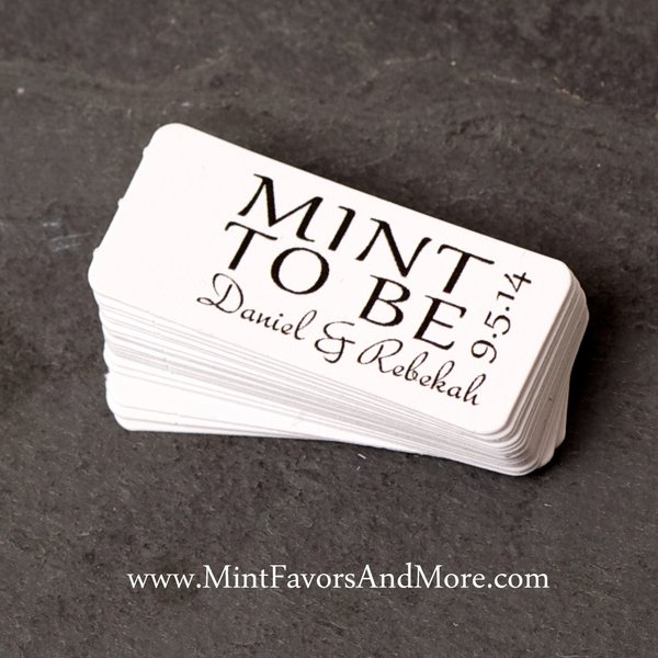 Mint To Be Favor Tags Small Gift