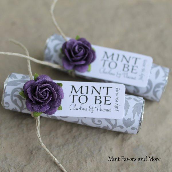Unique Wedding Favors Purple Wedding Favors Mint To Be Mints