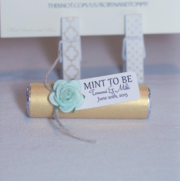 Gold Wedding Favors Custom Wedding Favors Mint To Be Mints