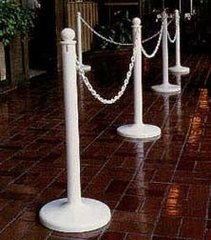 Stanchion, Aisle (White)