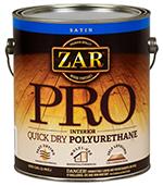 Finish, ZAR® Pro Interior Quick Dry Polyurethane (Gallon)