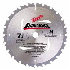 "Blade, Circular Saw 7-1/4"" 24 Carbide Teeth"