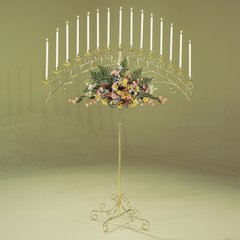 Candelabra, Floor Fan 15-lite