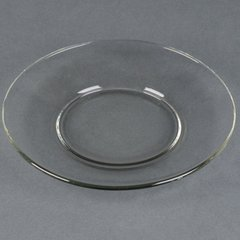 Plate, Clear Glass 6""