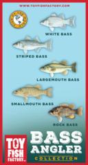 Bass Angler Toy Fish Set