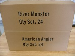 48 Units, 24 Each River Monster and American Angler Collections Free Ship