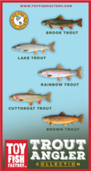 Trout Angler Toy Fish Set