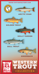 Western Trout Toy Fish Set