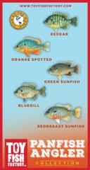 Panfish Angler Toy Fish Set