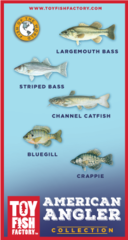 American Angler Collection Toy Fish Set Free Shipping