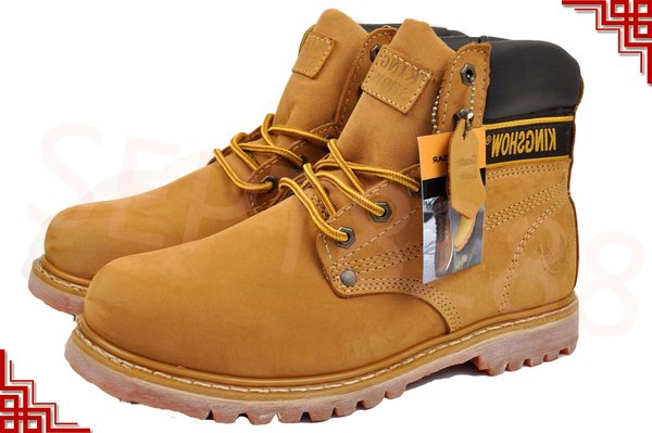 L&M Mens Water Resistant Work Boots SAFETY STEEL TOE 8036ST ...