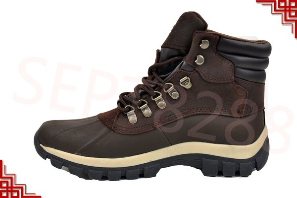 L&M Mens Snow Winter Work Boots Shoes Leather Waterproof 0705 ...