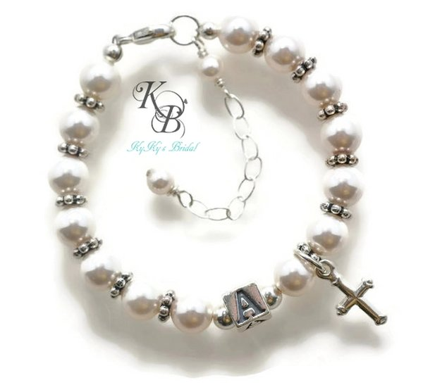 Baby Boy Gifts Jewelry : Personalized baptism bracelet gift baby