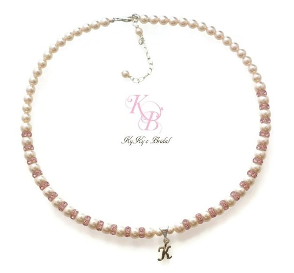 Baby necklace baby gift personalized baby gift personalized baby necklace baby gift personalized baby gift personalized little girl necklace pink necklace little girl jewelry flower girl necklace personalized negle Choice Image
