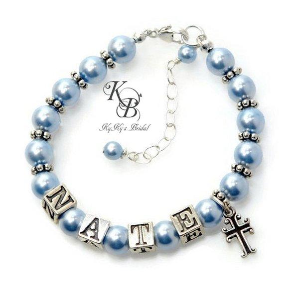 Baby Boy Gifts Jewelry : Baptism gifts for godson bracelets baby boy