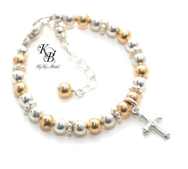 with s loading baptism christening girls or communion image name bracelet first itm holy is