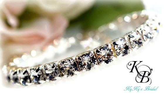 Crystal Tennis Bracelet Bridal Bracelet Wedding Jewelry Bride
