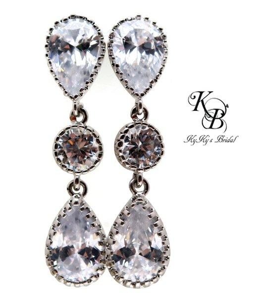Wedding Earrings Cubic Zirconia Earrings Prom Jewelry Wedding