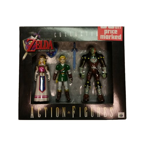 Legend of Zelda Ocarina of Time Link, Ganon, Zelda Action Figure Set