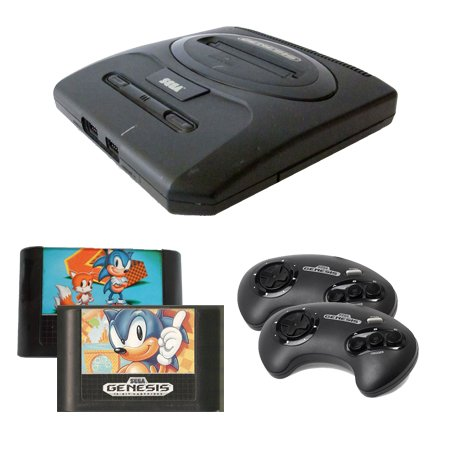 Sega Genesis Complete System with Sonic the Hedgehog 1 and 2 and 2 Controllers