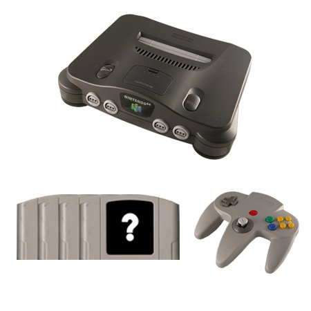N64 Complete System with 4 Random Games and 1 Controller