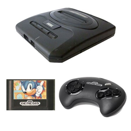 Sega Genesis Complete System with Sonic the Hedgehog and 1 Controller