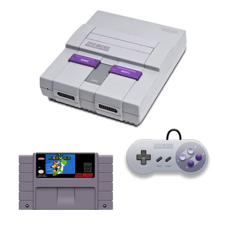 SNES Complete System with Super Mario World and 1 Controller