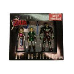 Legend of Zelda Ocarina of Time Link, Ganon, Zelda Action Figure Set