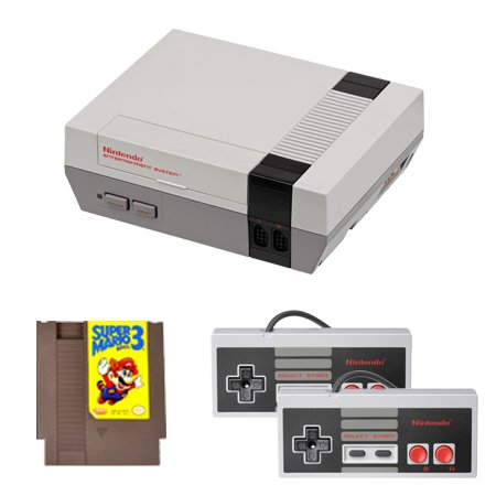 NES Complete System with Mario 3 and 2 Controllers