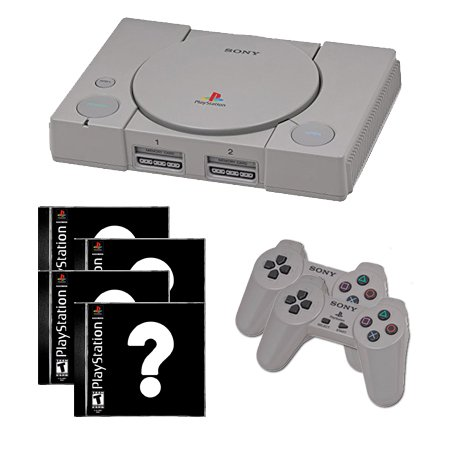 Playstation 1 Complete System with 4 Random Games and 2 Controllers