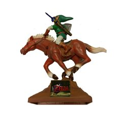 Legend of Zelda Ocarina of Time Link Riding Epona Poseable Figure with Stand