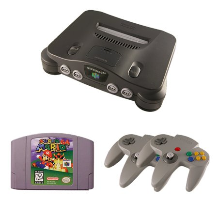 N64 Complete System with Super Mario 64 and 2 Controllers