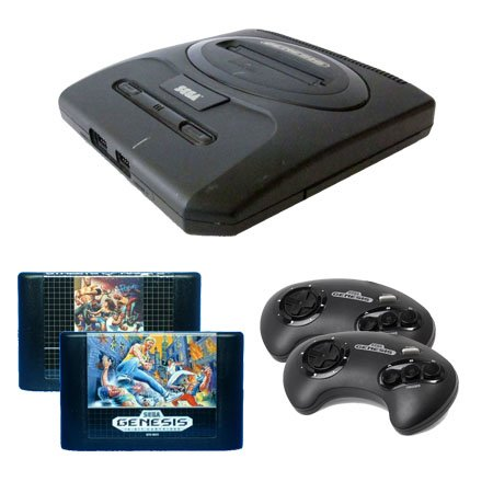 Sega Genesis Complete System with Streets of Rage 1 and 2 and 2 Controllers