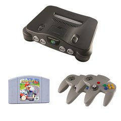 N64 Complete System with Mario Kart 64 and 2 Controllers