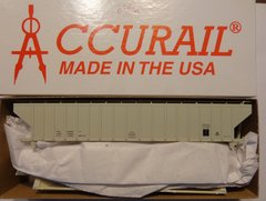 ACCURAIL 6596 HO SCALE 4750 CU FT RIBBED HOPPER GRAY, DATA.