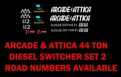 ARCADE AND ATTICA ORIGINAL TYPE GRAPHICS. G-CAL DECAL SET