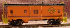 Buffalo & Pittsburgh Bay window caboose HO decal set.
