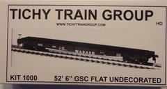 TICHY TRAINS 1000 HO SCALE 53 FT FLATCAR KIT