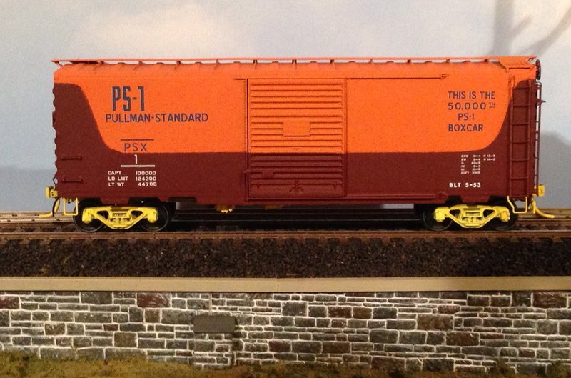 The 50000th boxcar model he custom painted and decaled using modern rails buffalo brands water slide decals awesome work richard