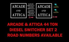 ARCADE AND ATTICA 44 TON LOCO G-CAL DECAL SET.
